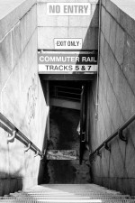 Coming home for family: Commuter rail entrance